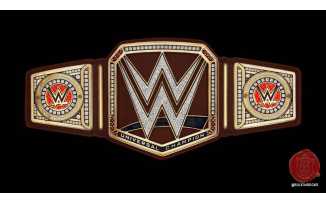 WWE Universal Title in Brown Leather