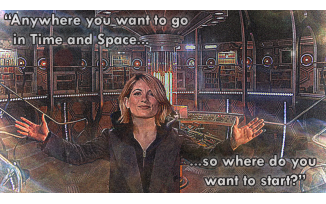 Anywhere in Time and Space... (sorry Matt Smith I took your arms)