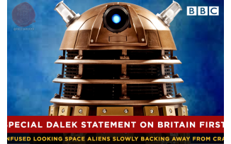 Daleks Dissociate from Britain First (Based on a gag by @ExcelPope)