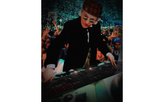 DJ Doctor Who - based on a colourisation by Clayton Hickman